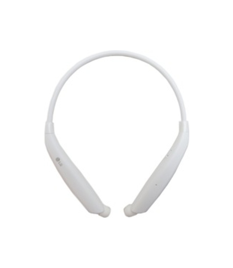 LG Tone Ultra Bluetooth Stereo Headset - Stereo - White - Wireless - Bluetooth - Earbud, Behind-the-neck - Binaural - In-ear