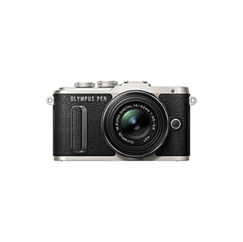 Olympus PEN E-PL8 16.1 Megapixel Mirrorless Camera with Lens - 14 mm - 42 mm - Black - 3