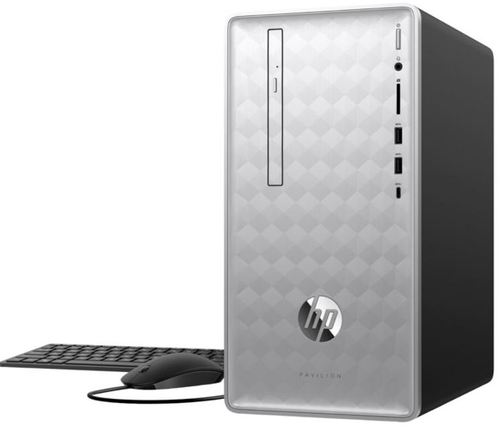 HP Pavilion 3LB80AA 590-p0076 Desktop PC - AMD Ryzen 5 2400G 3.6 GHz Quad-Core Processor - 8 GB DDR4 SDRAM - 1 TB Hard Drive - Windows 10 Home 64-bit