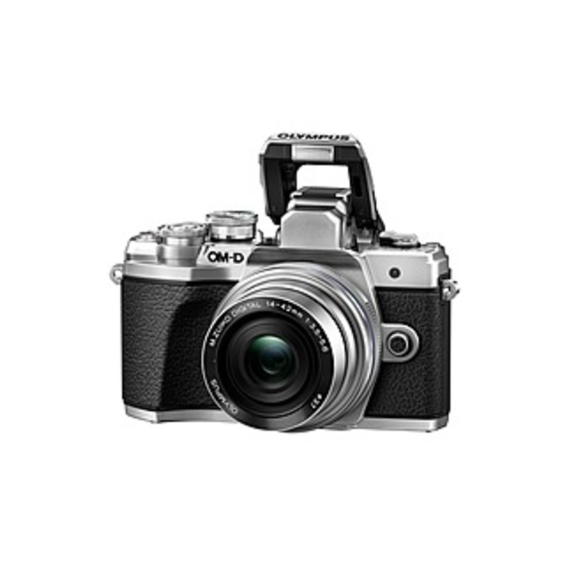 Olympus OM-D E-M10 Mark III 16.1 Megapixel Mirrorless Camera with Lens - 14 mm - 42 mm - Silver - 3