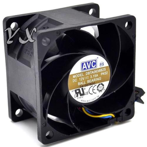 Image of AVC DBTA0638B2S 12 V 3.15 A Large Air Flow Cooling Fan