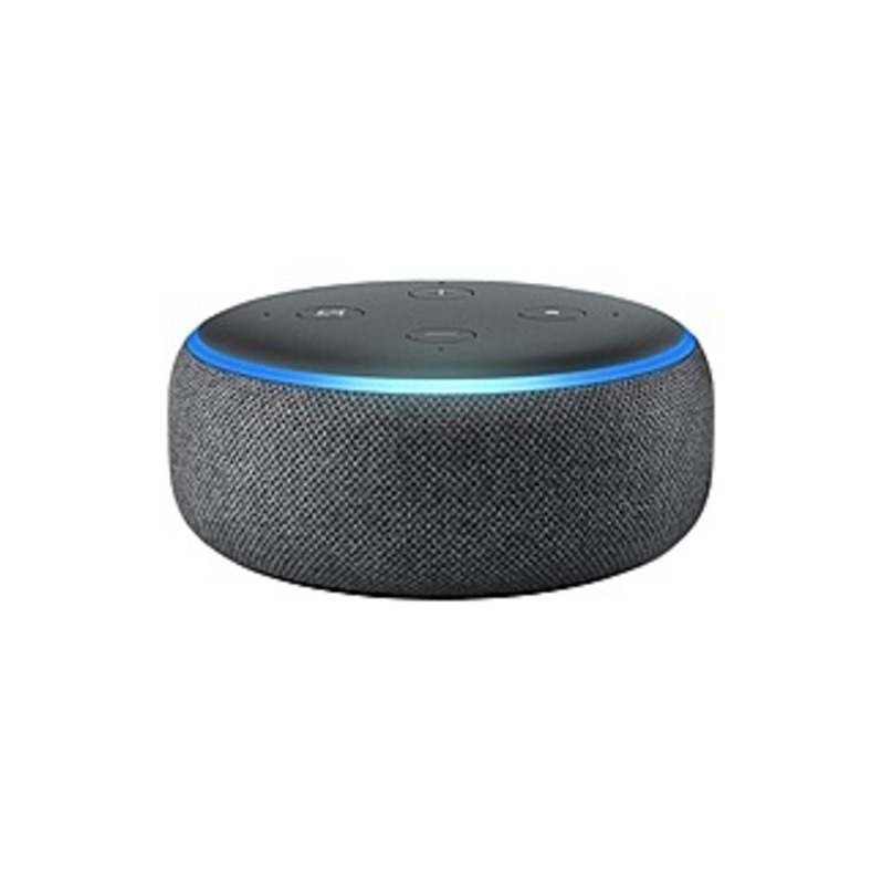 Amazon Echo Dot (3rd Generation) Bluetooth Smart Speaker - Alexa Supported - Charcoal - Wireless LAN