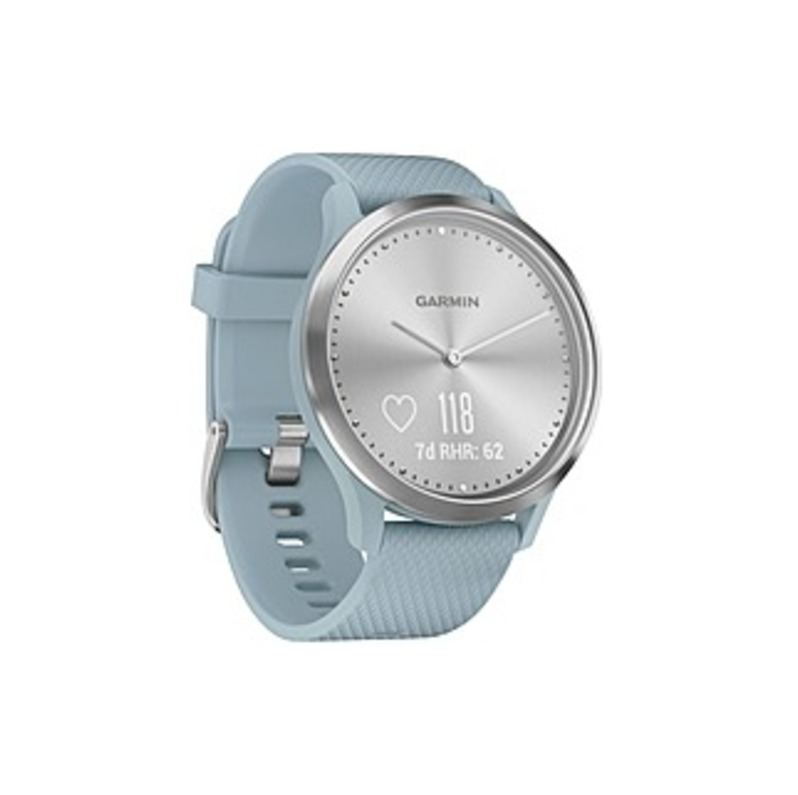 Garmin_Vivomove_HR_0100185018_Sport_Activity_Smart_Watch__Heart_Rate_Monitor__OLED_Monochrome_Display__Sea_Foam__Silver