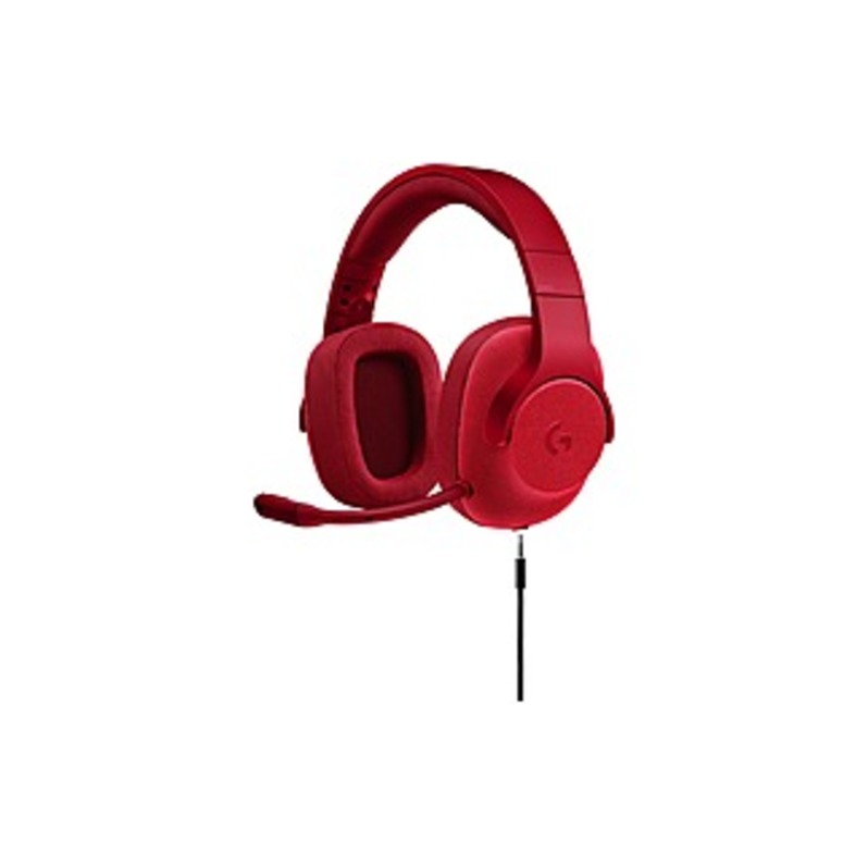 Logitech G433 Wired 7.1 Gaming Headset for PC, Mac, Nintendo Switch, PS4, Xbox One Red 981-000650