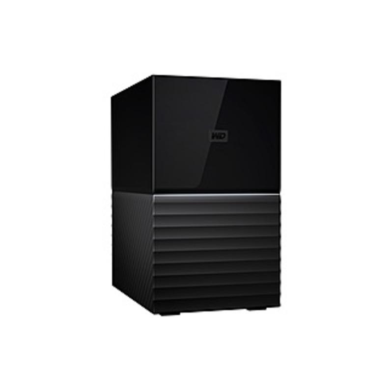 WD My Book Duo 12TB 2-Bay External USB Type-C Storage Black WDBFBE0120JBK-NESN