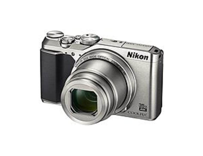 "Nikon Coolpix A900 20 Megapixel Compact Camera - Silver - 3"" LCD - 35x Optical Zoom - 4x Digital Zoom - Optical (IS) - 5184 x 3888 Image - 3840 x 2160"