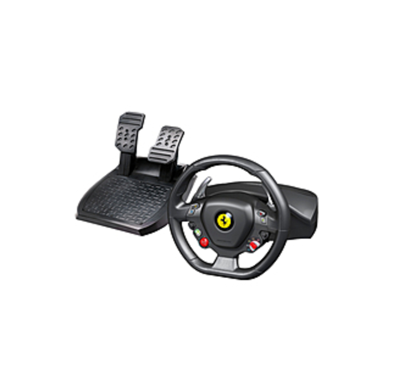 Image of Thrustmaster Ferrari 458 Italia Gaming Steering Wheel - Cable - USB - Xbox 360, PC - 9.84 ft Cable