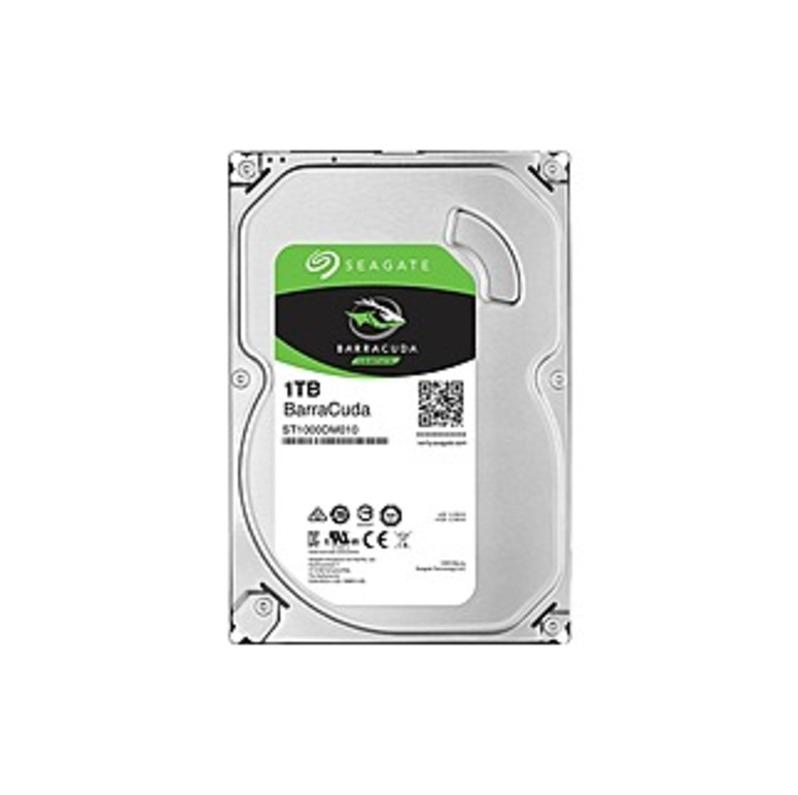 Seagate Barracuda 1TB Internal SATA Hard Drive for Desktops Silver ST1000DM010SP
