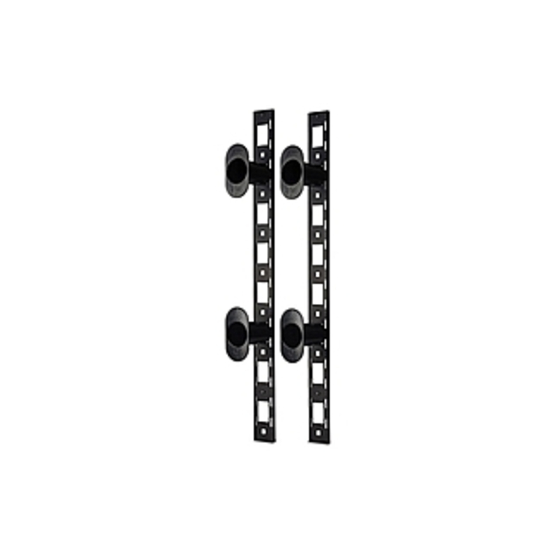 Image of APC Vertical Fiber Organizer - Black - 0U Rack Height