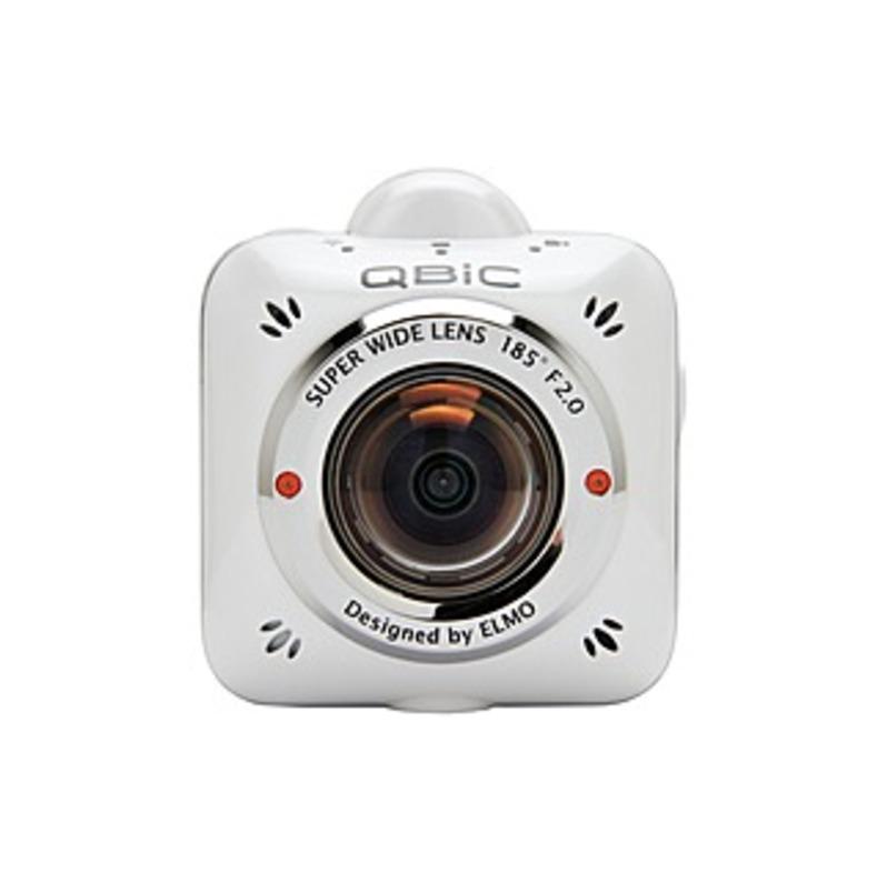 Elmo QBiC MS-1 Digital Camcorder - Full HD - White - 16:9 - 5 Megapixel Image - MP4, H.264 - Electronic (IS) - Speaker, Microphone - HDMI - USB - micr