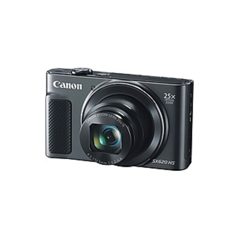 """Canon PowerShot SX620 HS 20.2 Megapixel Compact Camera - Black - 3"""" LCD - 25x Optical Zoom - 4x Digital Zoom - Optical (IS) - 5184 x 3888 Image - 1920"""