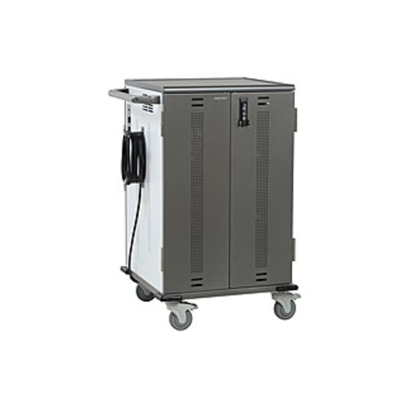 http://www.techforless.com - Anthro YES36 Charging Cart for Mini-laptops – 3 Shelf – 180.56 lb Capacity – 4 Casters – 4″ Caster Size – Wood, Thermoplastic, Vinyl, Laminate, Steel 1284.49 USD