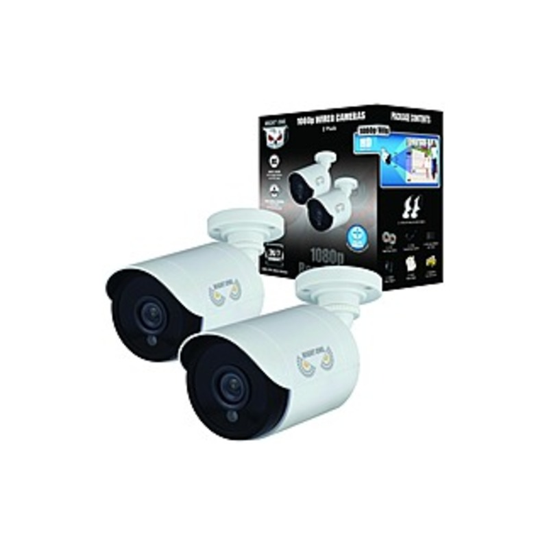 Night Owl CM-HDA10W-BU 2 Megapixel Surveillance Camera - 2 Pack - 100 ft Night Vision - 1920 x 1080