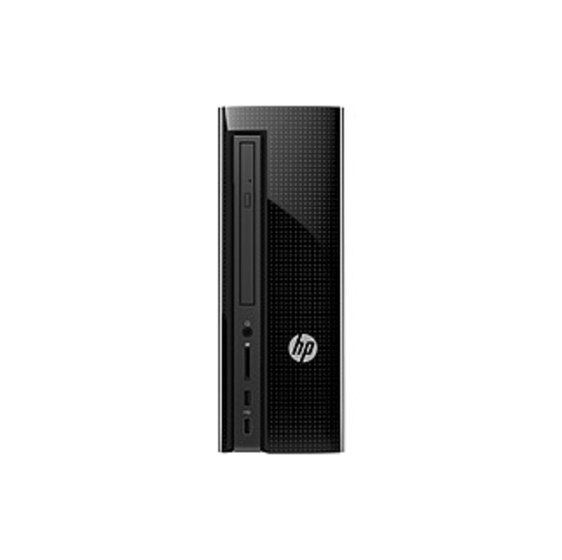 HP Slimline 260-a000 260-a010 Desktop Computer - Pentium J3710 - 4 GB RAM - 1 TB HDD - Tower - Glossy Black - Windows 10 Home 64-bit - Intel HD Graphi
