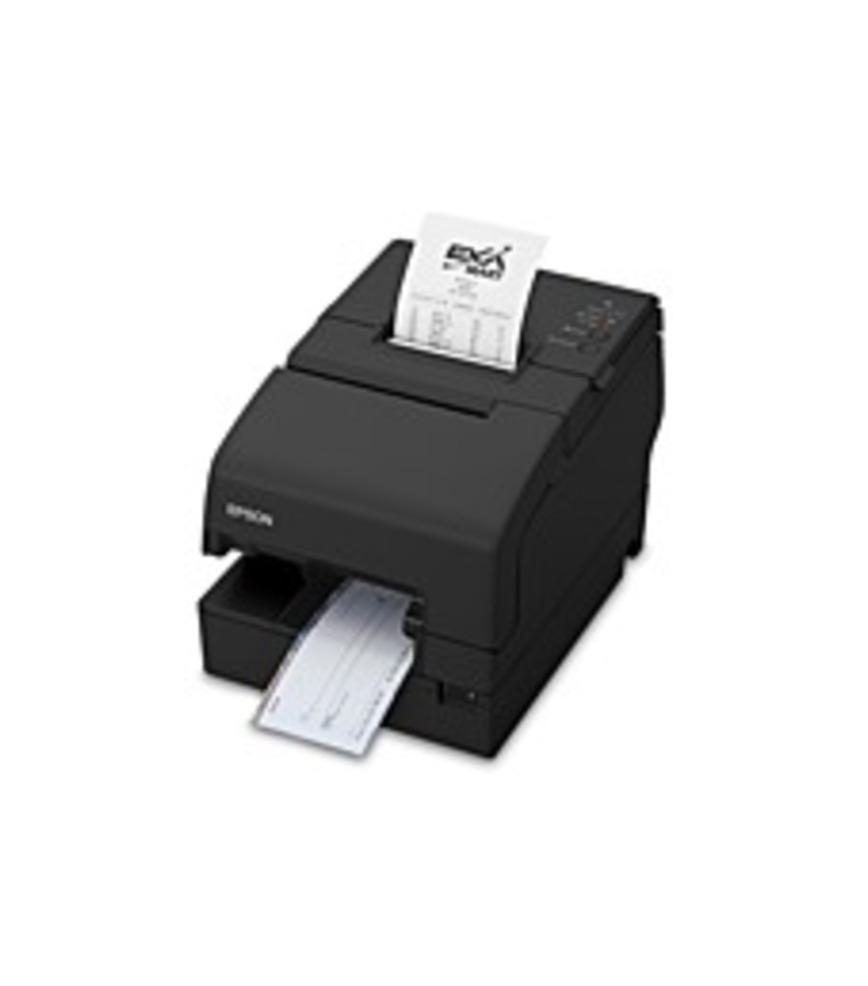 Epson OmniLink TM-H6000V Dot Matrix Printer - Color - Desktop - Receipt Print - 13.78 in/s Mono - 200 dpi - Wireless LAN - Check, Roll Paper, Cassette (C31CG62036_C1 C31CG62036) photo