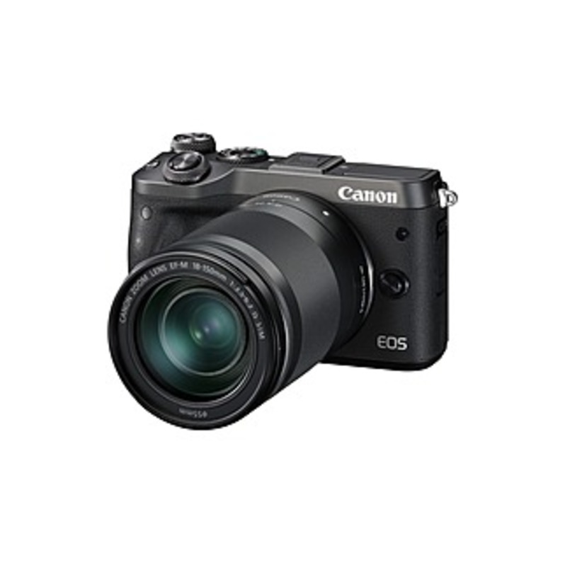 "Canon EOS M6 24.2 Megapixel Mirrorless Camera with Lens - 18 mm - 150 mm - Black - 3"" Touchscreen LCD - 8.3x Optical Zoom - Optical (IS) - 6000 x 4000"