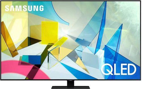 SAMSUNG Q80T QN55Q80TAF 55-Inch Class HDR 4K UHD Smart QLED TV - 2160p - HDR 10+ - 120 Hz - Amazon Alexa - Google Assistant - Titan Black