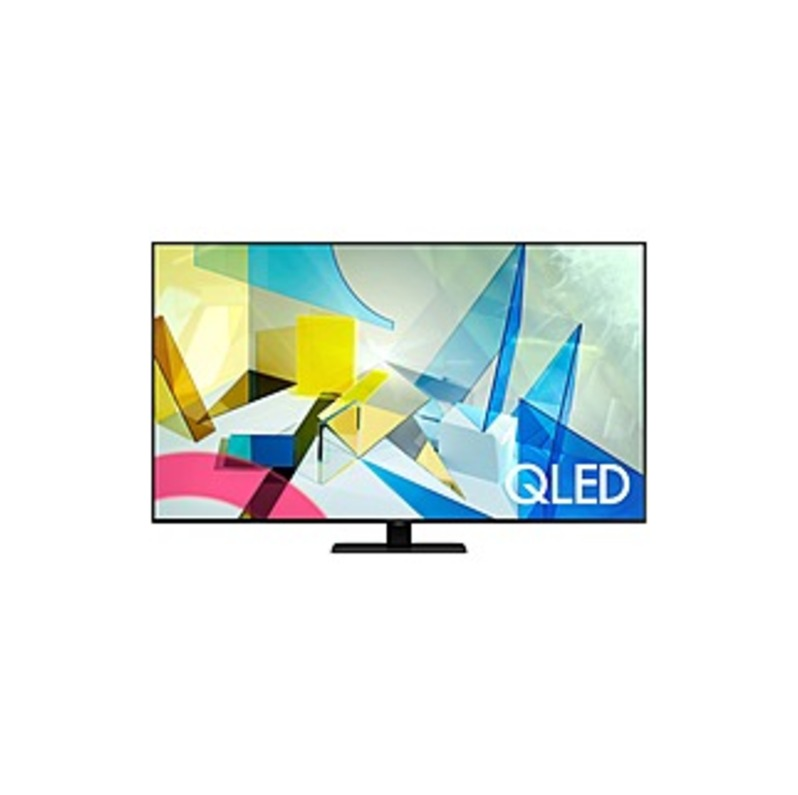 "Samsung QN65Q80TAF 64.5"" Smart LED-LCD TV - 4K UHDTV - Titan Black - Quantum Dot LED Backlight - Bixby, Google Assistant, Alexa Supported - Tizen - Do"