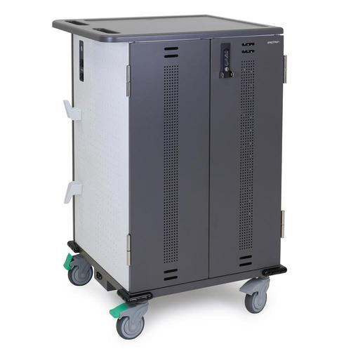 http://www.techforless.com - Ergotron YES36-CHR-1 YES36 Adjusta Charging Cart – 36 Devices – 3 Shelves -Up to 13.3-inch Display – Integrated Cable Management – Lockable – Gray and 1168.97 USD