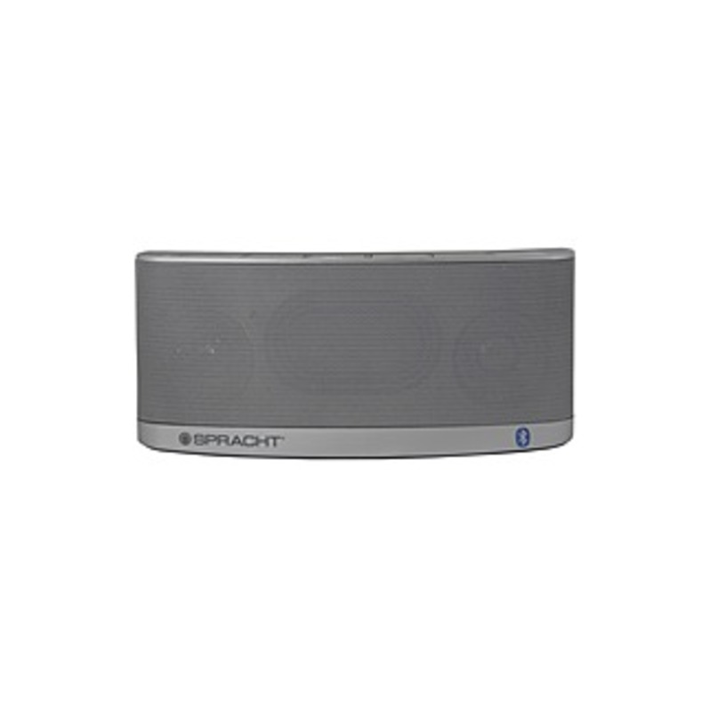 http://www.techforless.com - Spracht Blunote2.0 Portable Bluetooth Speaker System – 10 W RMS – Silver – Battery Rechargeable – USB 25.97 USD