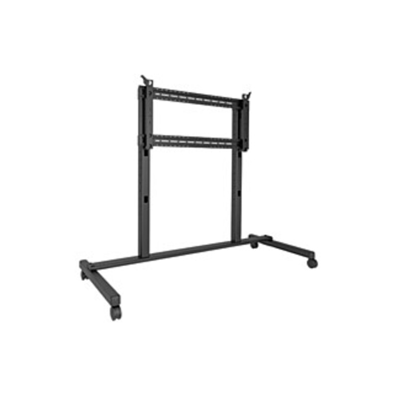 http://www.techforless.com - Chief Fusion Extra Large Cart – 310 lb Capacity – 4 Casters – 91″ Width x 41.6″ Depth x 76.4″ Height – Black – For 1 Devices 2161.97 USD