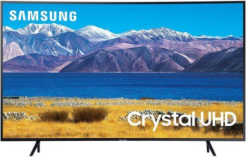 http://www.techforless.com - Samsung UN55TU8300F 55-Inch Class TU8300 4K Ultra HD HDR Smart Curved LED TV – 3840 x 2160- 16:9 – HDMI – Wi-Fi – Bluetooth – Alexa – Google Assistant 538.49 USD