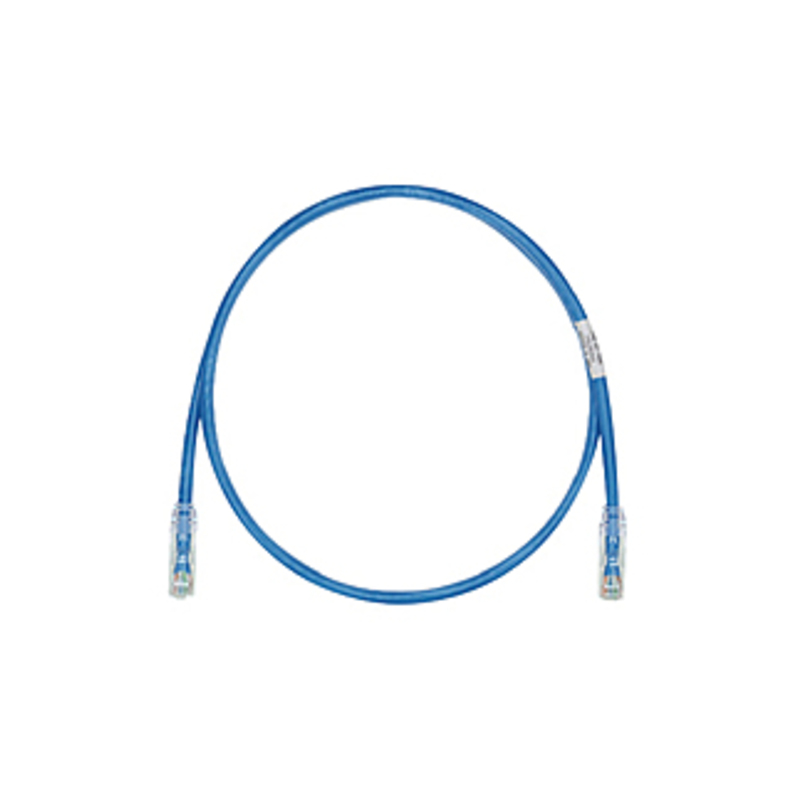 http://www.techforless.com - PANDUIT Cat.6 UTP Patch Cord – RJ-45 Male Network – RJ-45 Male Network – 15ft – Blue, Clear 10.97 USD