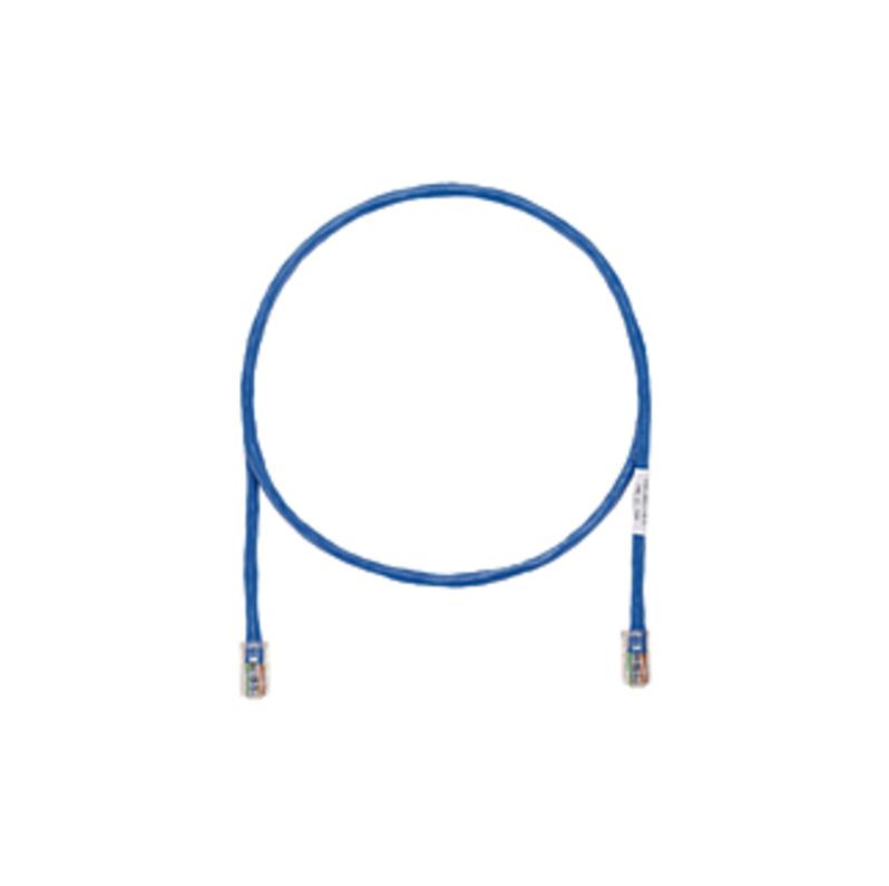 http://www.techforless.com - PANDUIT Cat.6 UTP Patch Cord – RJ-45 Male Network – RJ-45 Male Network – 10ft – Blue, Clear 12.49 USD