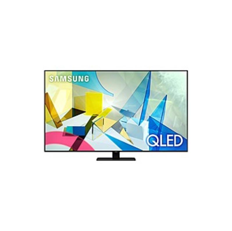"Samsung QN75Q80TAF 74.5"" Smart LED TV - 4K UHDTV - Titan Black - Quantum Dot LED Backlight - Bixby, Google Assistant, Alexa Supported - 3840 x 2160 Re"