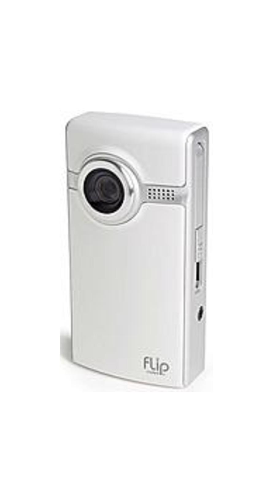 Pure Digital F260W Flip Video Ultra Series 60 Minutes 2 GB Digital Camcorder - White